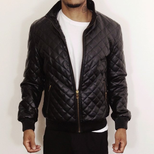 e2298446 @tootsietime. 5 years ago. London, United Kingdom. Men's black Zara quilted faux  leather bomber jacket ...