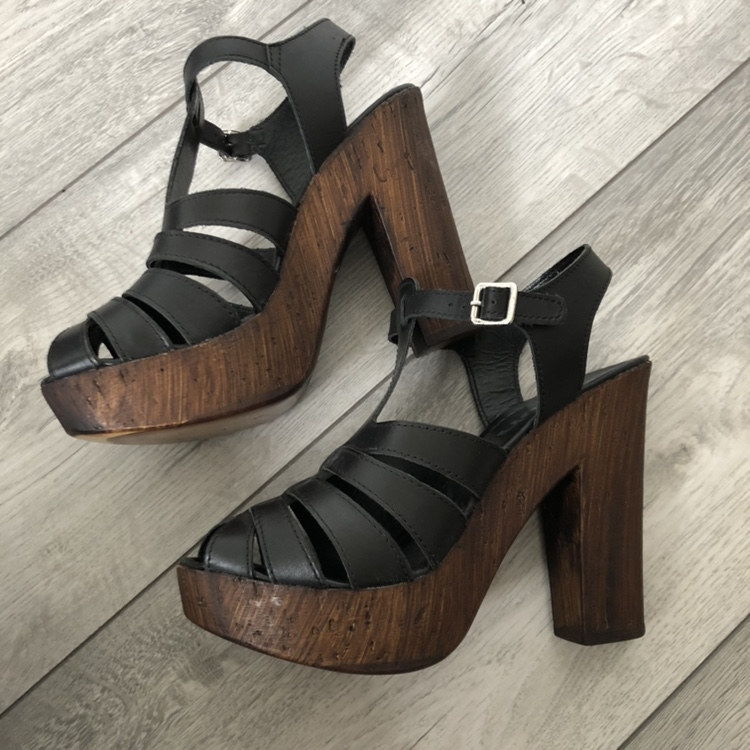 buy sale official store new lower prices Schuh Black Wedge Sandals • UK size 5 • never... - Depop