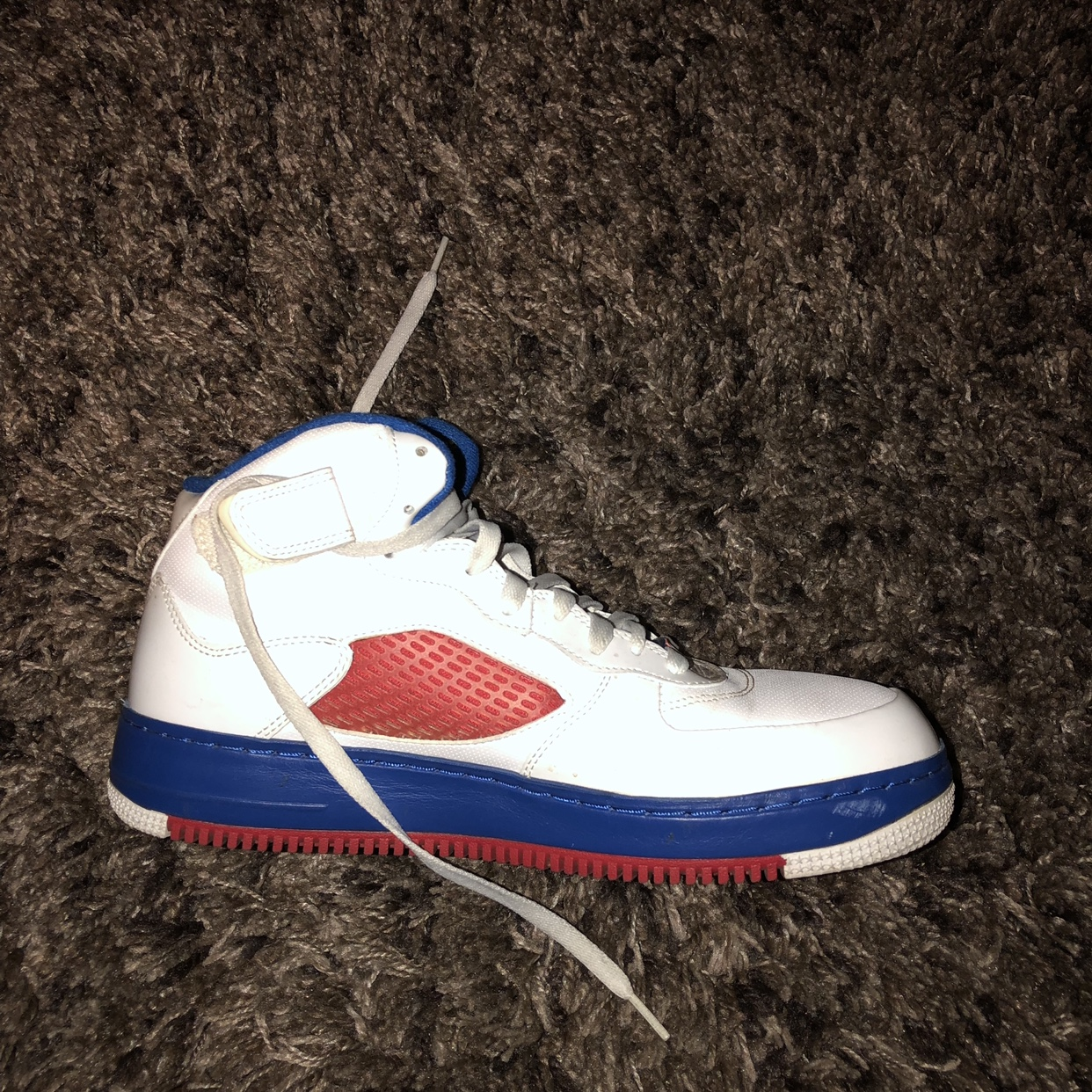 jordan air force 1 blue and red