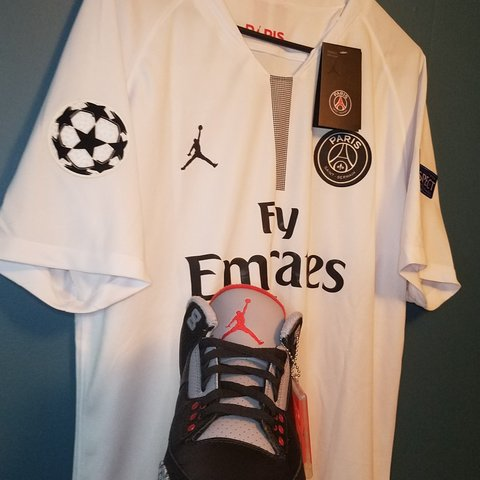 7aa2e2de71a THIS IS NOT THE PRICE FOR BOTH!! PSG X AIR JORDAN JERSEY any - Depop