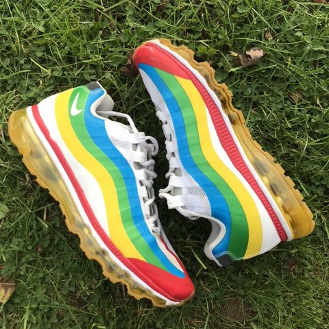0a464586555d SALE!! RARE Olympic edition nike air max 95 plus rainbow red - Depop