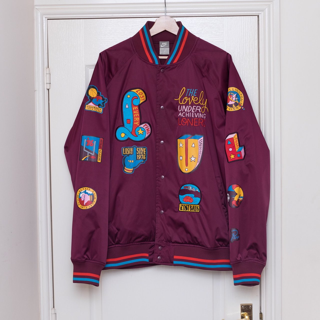 quality design 0381f 61c32  jamesmeasom. 2 years ago. Chadderton, United Kingdom. Nike x Piet Parra  Nylon Varsity Jacket.