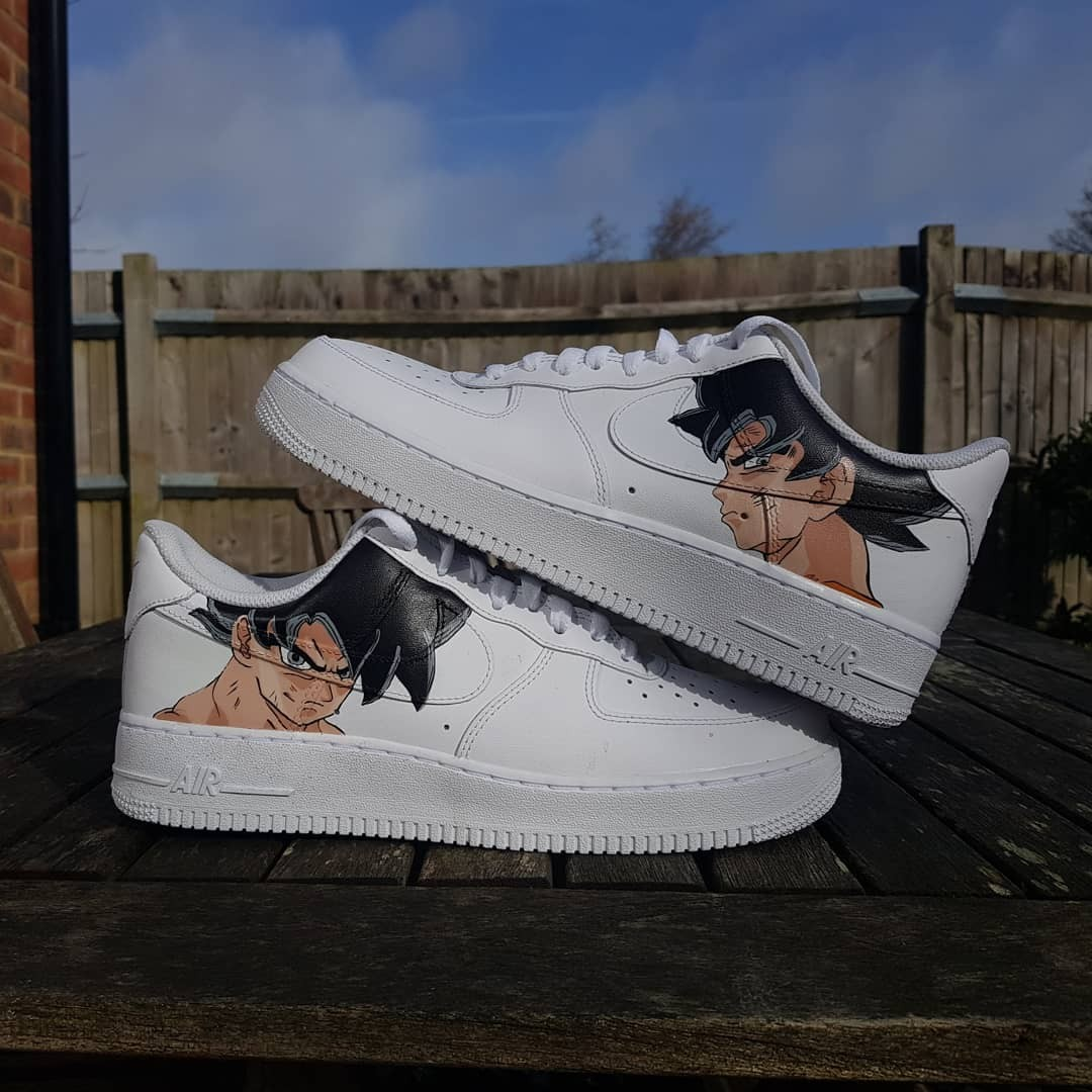 Air force 1, Dragon Ball Z customs. Hand painted by Depop