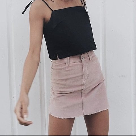 1691810144 @courtneyhollywood. 5 months ago. Sudbury, United Kingdom. brandy melville  pink corduroy skirt.