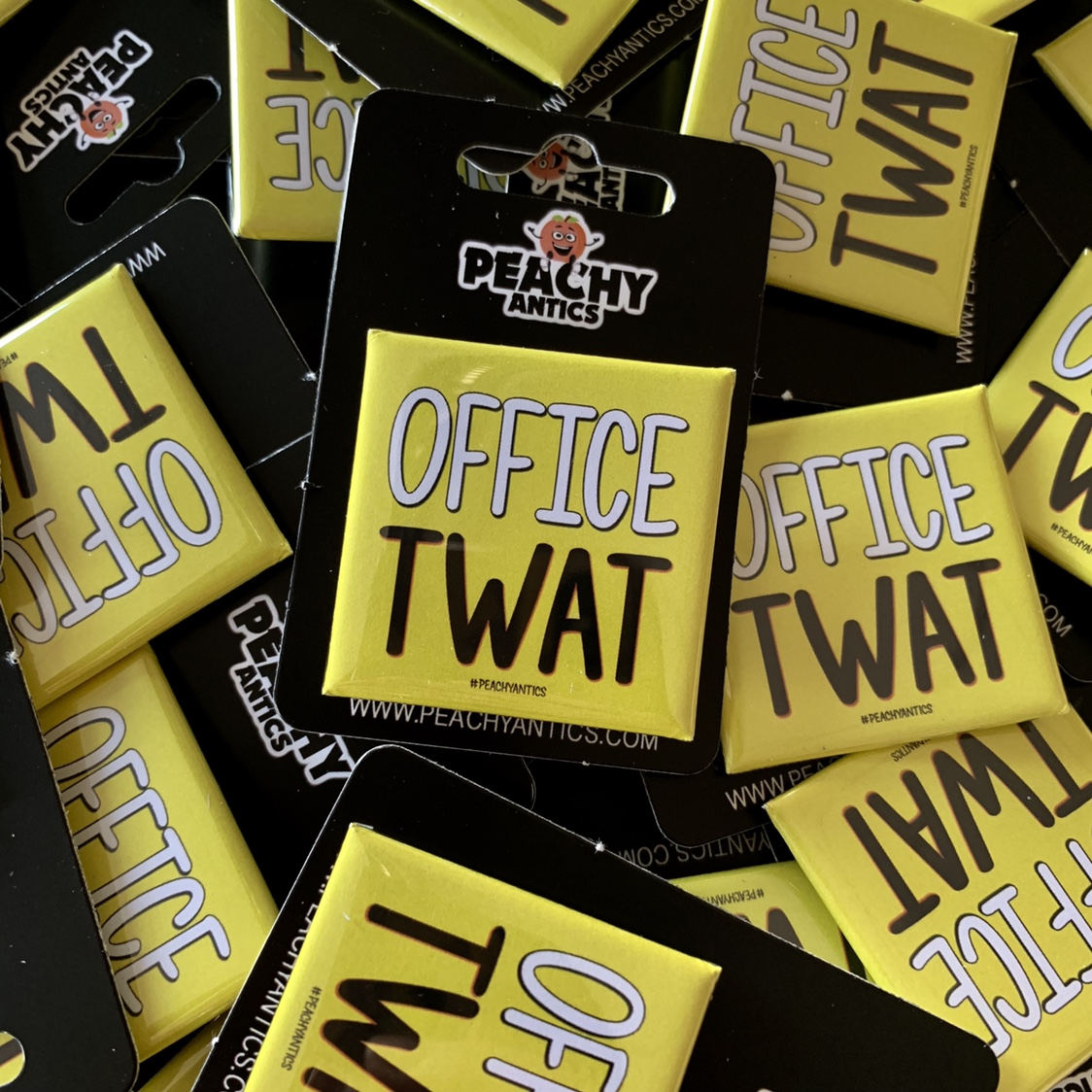 Office Twat Badge Badges Work Badges Funny badges    - Depop