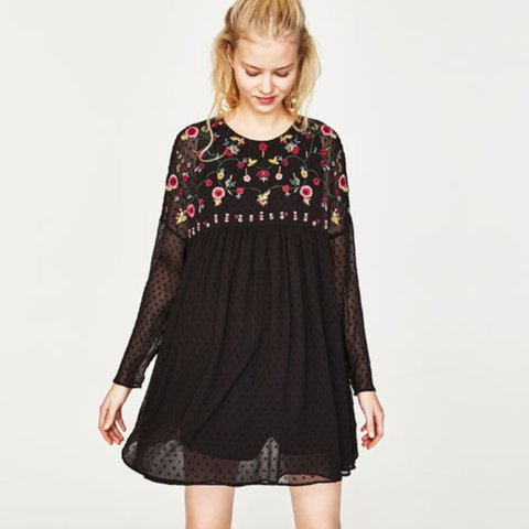 5538c9298a88 New with tags Zara black embroidered playsuit