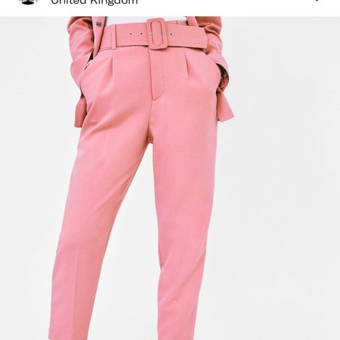 f3452c19 Zara pink trousers with belt. Sold out online! Size XS. NEW - Depop