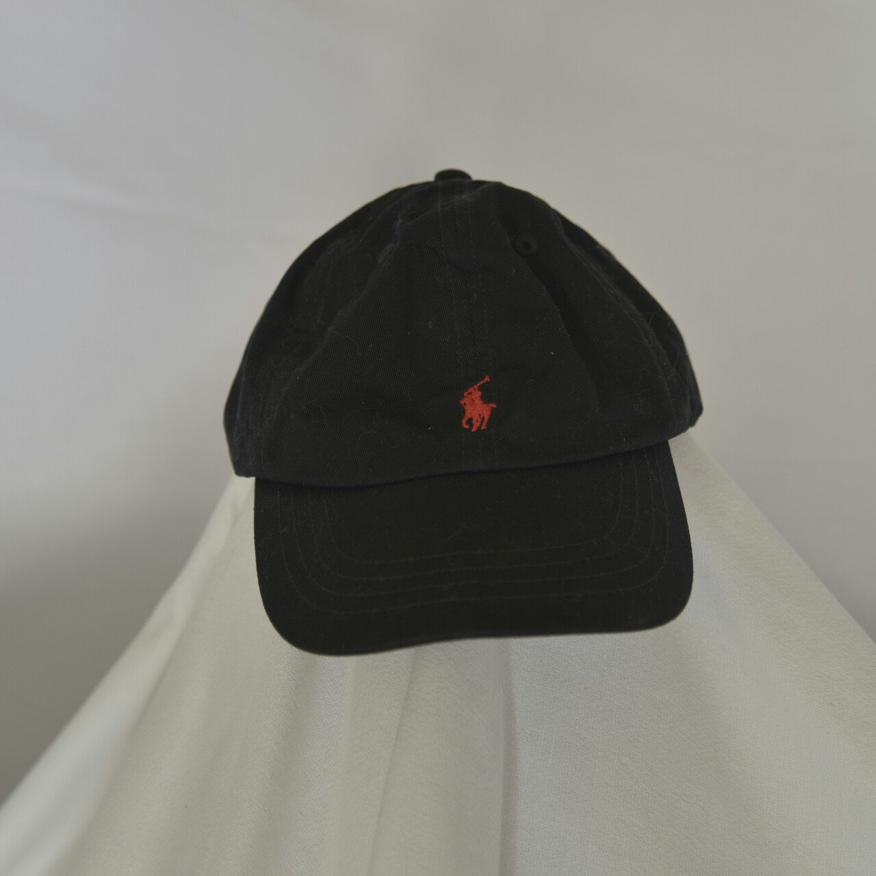 Polo by Ralph Lauren dad hat. Black with red embroidery. - Depop 785162b88ad
