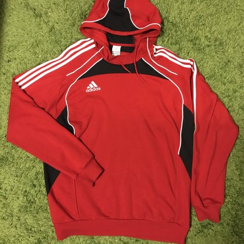 red and black adidas sweater