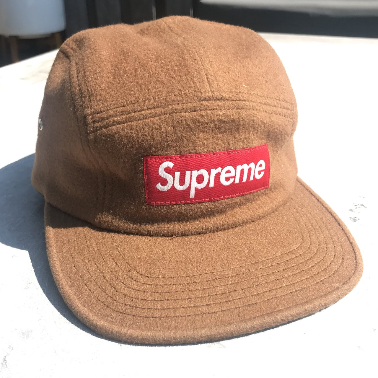 Supreme Loro Piana Camp Cap Condition  Pre-Owned - Brown - Depop 7c3d9f1c5831