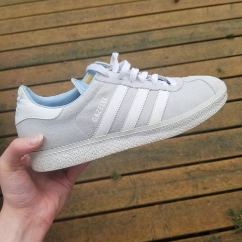 Super cool light and comfy Adidas! White-grey color with on - Depop b0e45058c