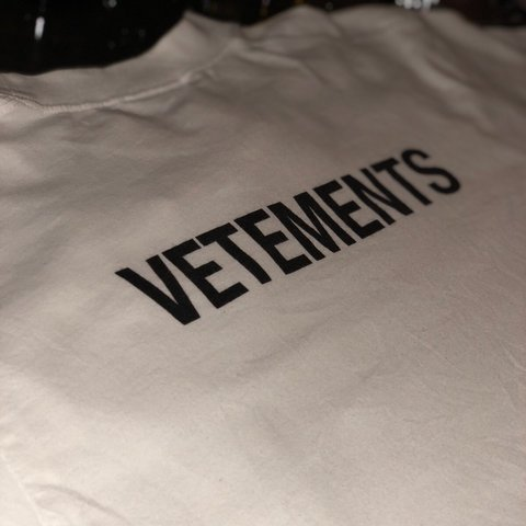 "15f67576 @spicedchaii. 9 months ago. Birmingham, United Kingdom. Vetements ""staff""  tshirt. Worn once 10/10 condition"