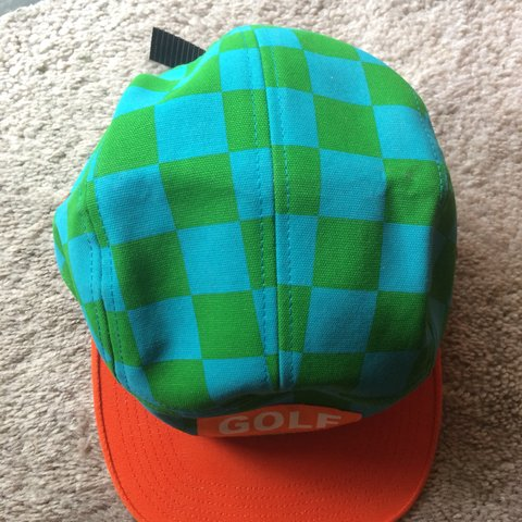 netfame. 7 months ago. United States. Golf Wang Blue Green Checkered 5  Panel Hat Brand new never ... 60b408922b3b