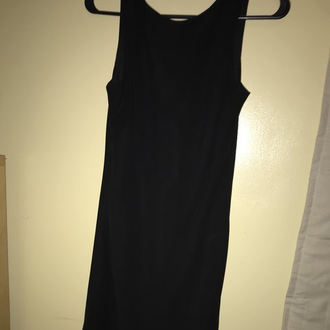 Mid Calf Length Black Vintage Knee Length Dress Label Size Depop