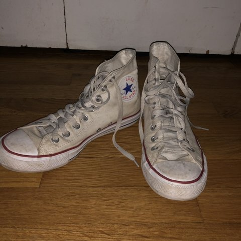 0a881f753b69 worn out white converse which I don t wear that often. 7 9 - Depop