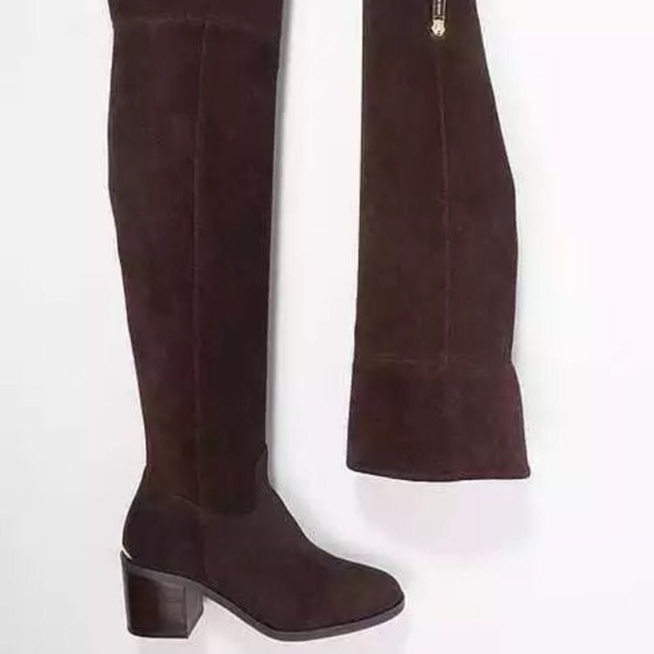 cheapest price outlet store brand new Michael Kors thigh high suede boots size 5! Only... - Depop