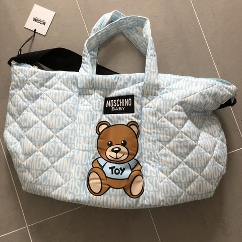 f056a074630 Brand new with tags Baby moschino blue bear changing - new - Depop