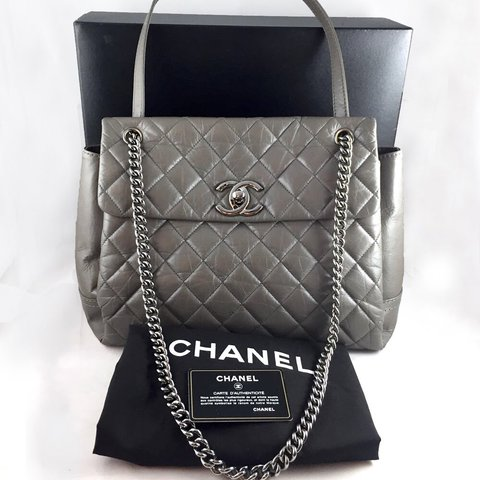 🚫SOLD   ebay🚫  REDUCED  Authentic Chanel Flap Bag Large is - Depop d720669a7c