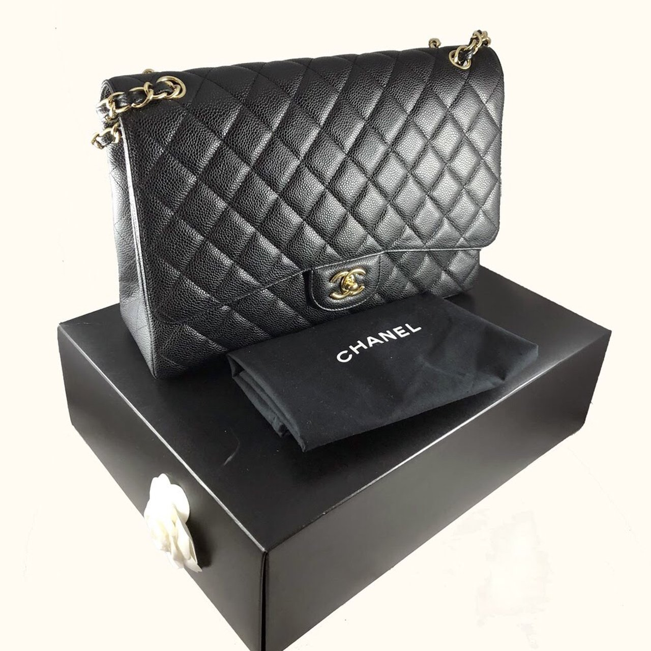 b91accfed155  alldes. 8 months ago. United States.  PRICE TO SELL  Authentic CHANEL maxi  flap bag ...