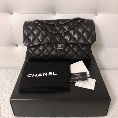 14976b7cd793ef [PRICE REDUCED] Authentic Chanel Classic Flap Bag in Maxi 3 - Depop