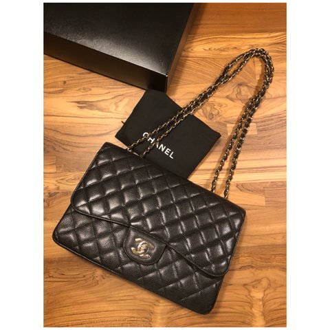 909c51423a45  alldes. 7 months ago. United States. Authentic Chanel Jumbo Single Flap Bag  ...
