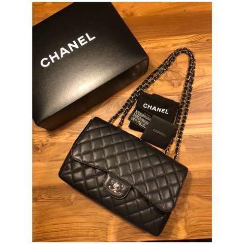 3823f25853eaae @alldes. 8 months ago. Hanover, United States. Authentic Chanel Jumbo  Classic Single Flap Bag ...