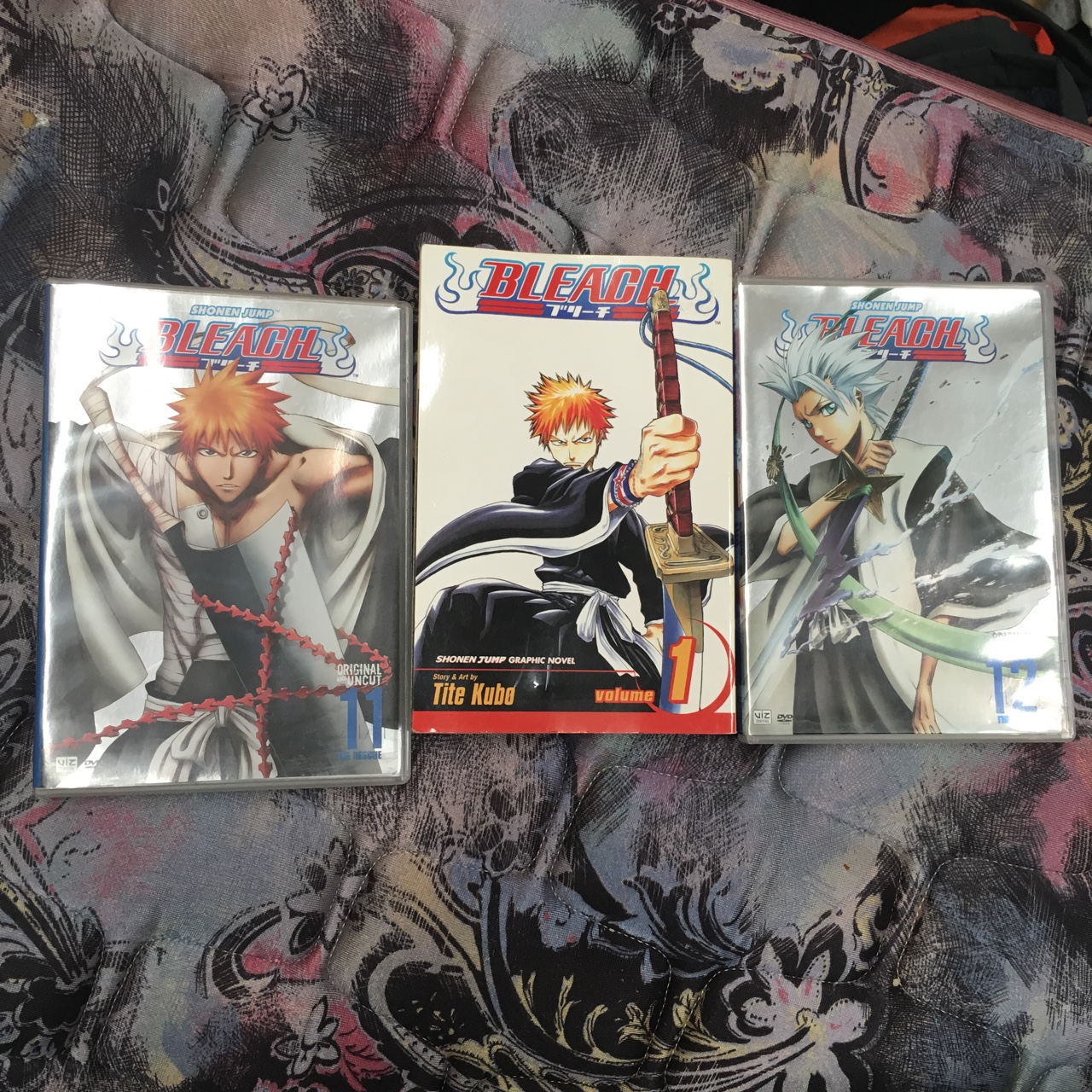 Bleach anime set  Comes with 2 DVDs and a manga     - Depop