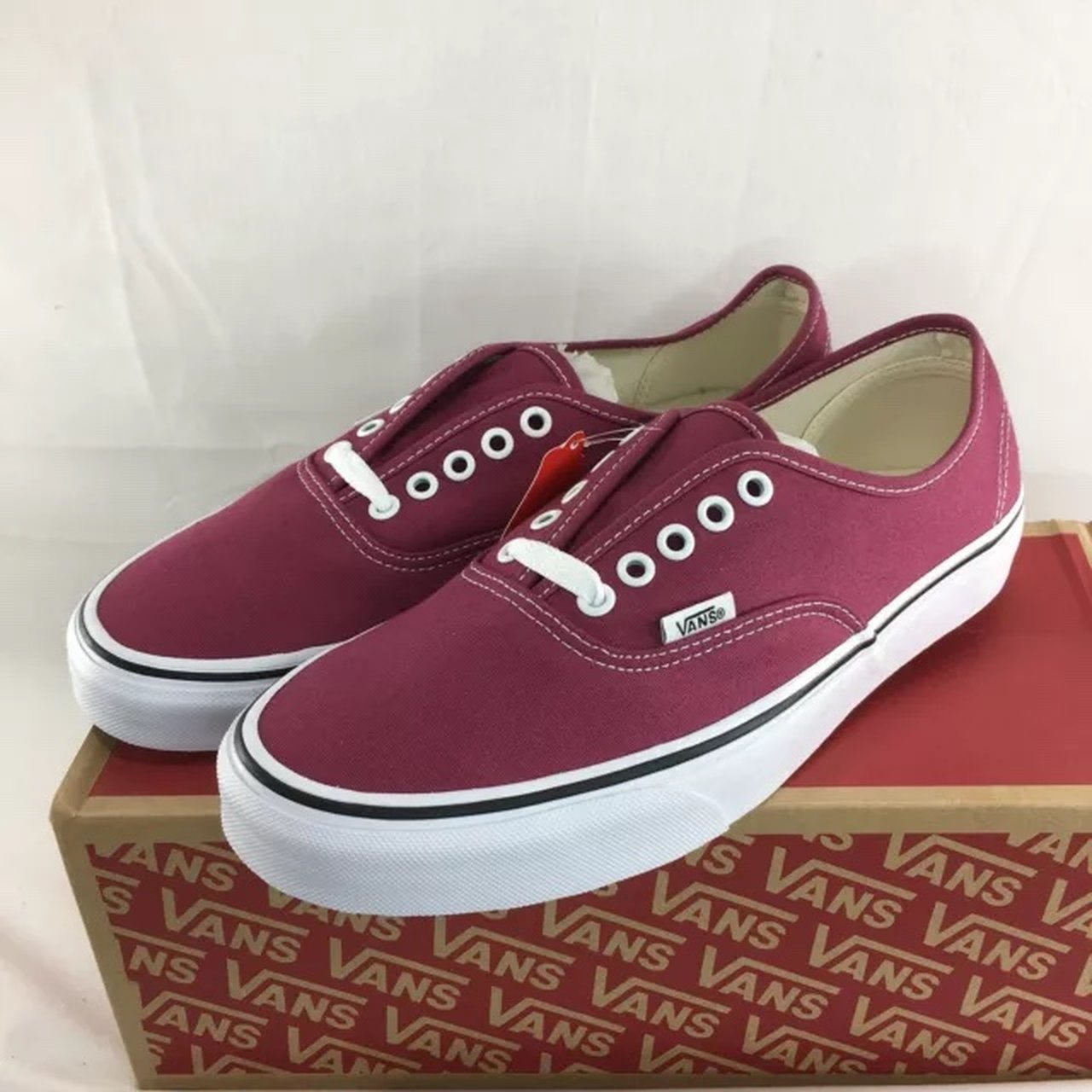 Vans Authentic shoes men u0027s dry rose red new with box skate - Depop