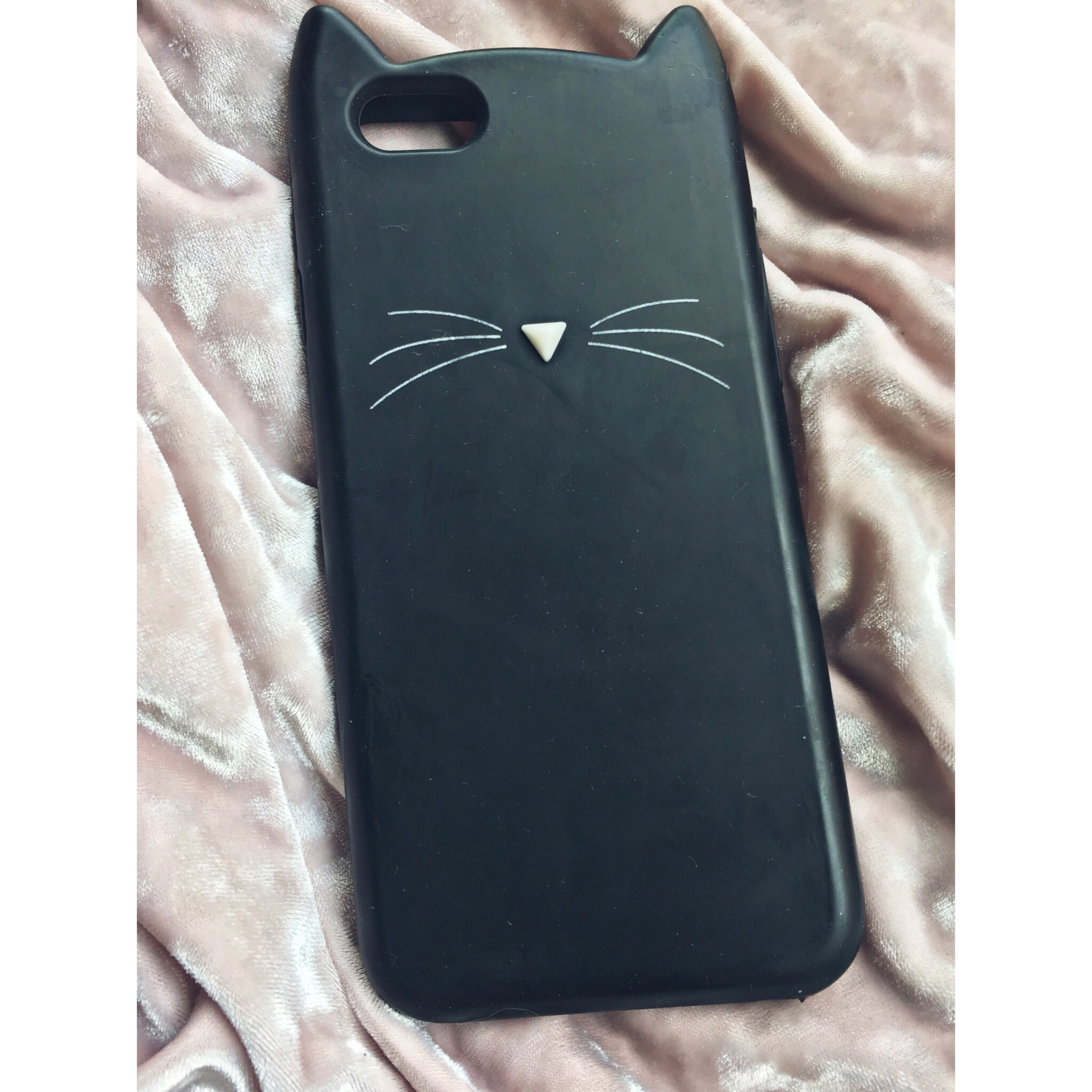 reputable site 5e969 ae61a Kitty Cat Phone Case. Simple rubber phone case,... - Depop