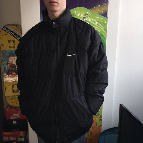 4bcf4d660 @aimeedenton. last year. Leeds, United Kingdom. Black vintage nike puffer  jacket
