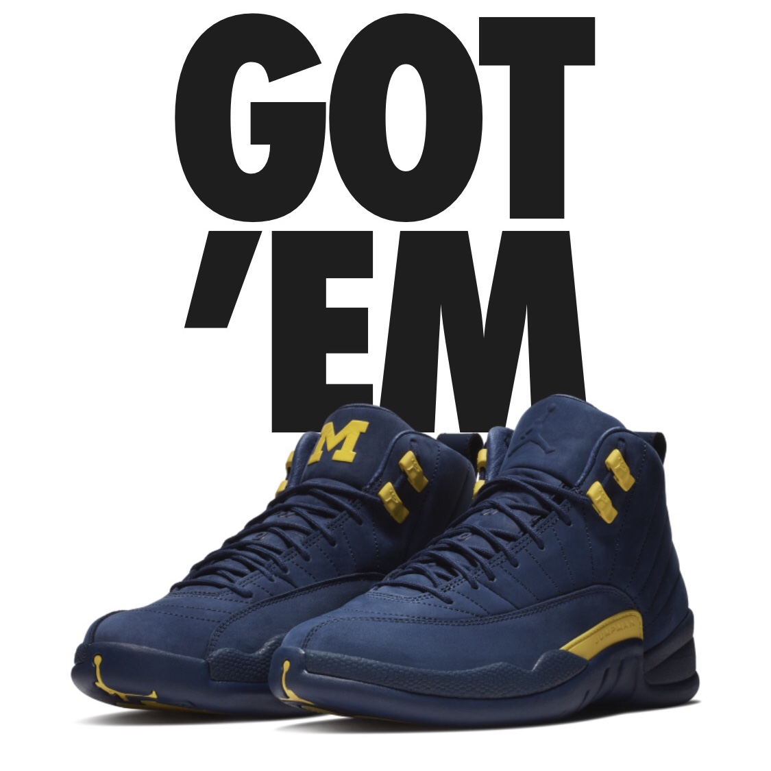 the best attitude b2379 30caf Air Jordan 12 Michigan PE Deadstock Men's Sz... - Depop