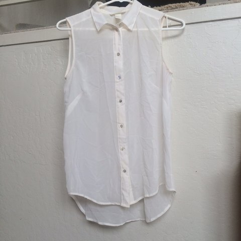 ae1de0865 @southafternoon. 26 days ago. Concord, United States. Sweet sheer white  sleeveless button up blouse.