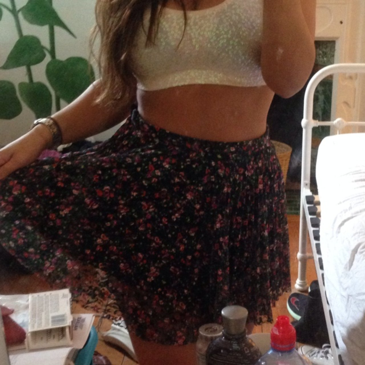 2561f366cc Size 10 Topshop floral skirt. Great condition. It also fits - Depop