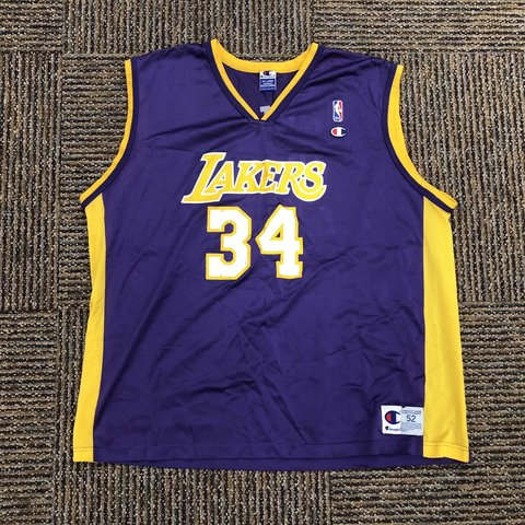 5092eb79b4c2 Vintage Champion Los Angeles Lakers Shaquille O Neal NBA Sz - Depop
