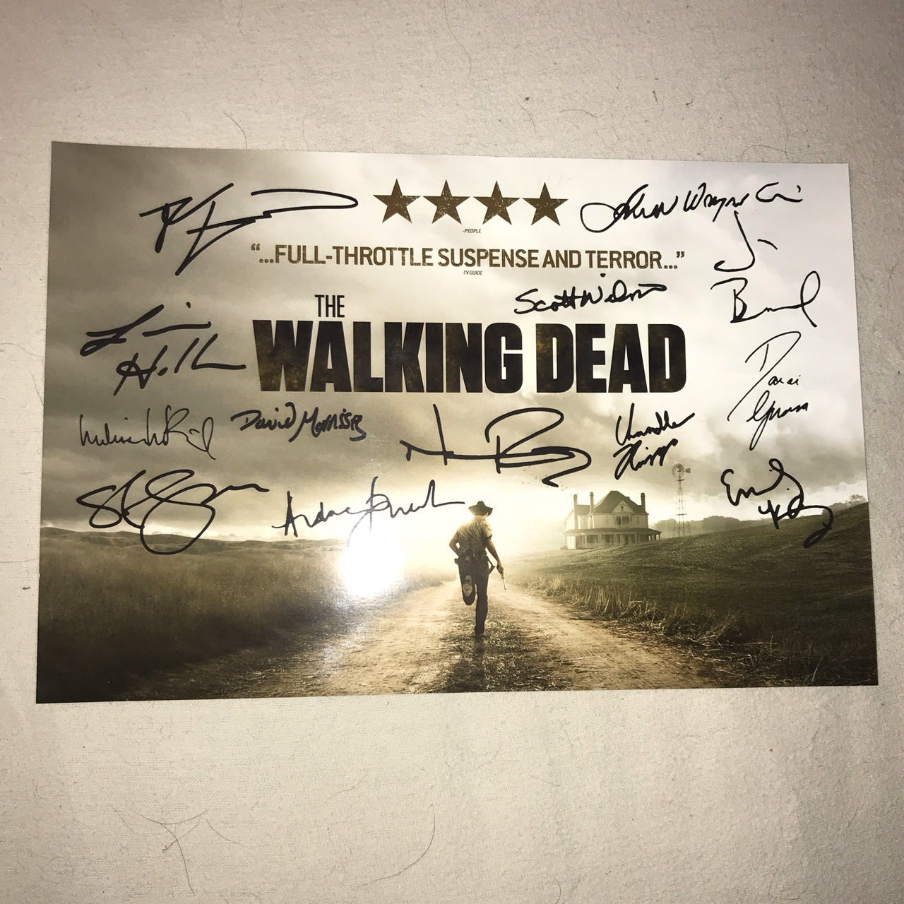 The Walking Dead Signed Season 2 Promo Poster 20cm Depop