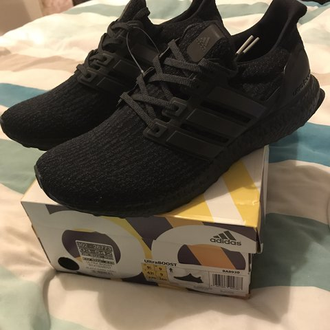 ead71fbfe Adidas ultra boost 3.0 triple black. Come with tags and and - Depop