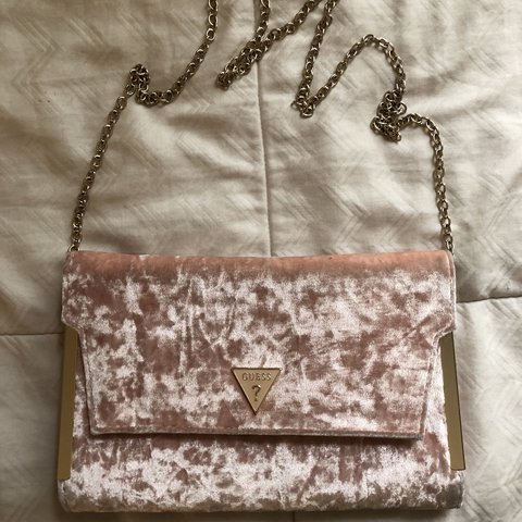 Pink Guess Crossbody Then back of the bag is worn stained 96cfed75c5b9a