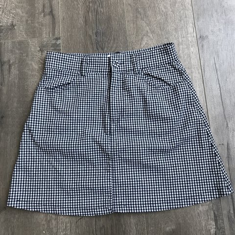c20337a3cb @v10la. 3 months ago. Glendale, United States. Brandy Melville black and white  gingham mini skirt
