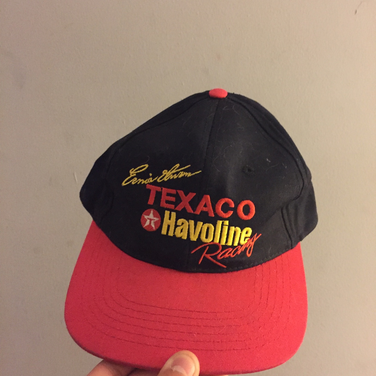 Vintage 90s TEXACO Racing Snap Back Great    - Depop