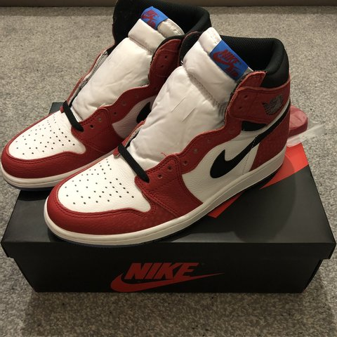 "e16be83feb0e Nike Air Jordan 1 "" SpiderMan"" Condition  DSWT Size   UK 9   - Depop"