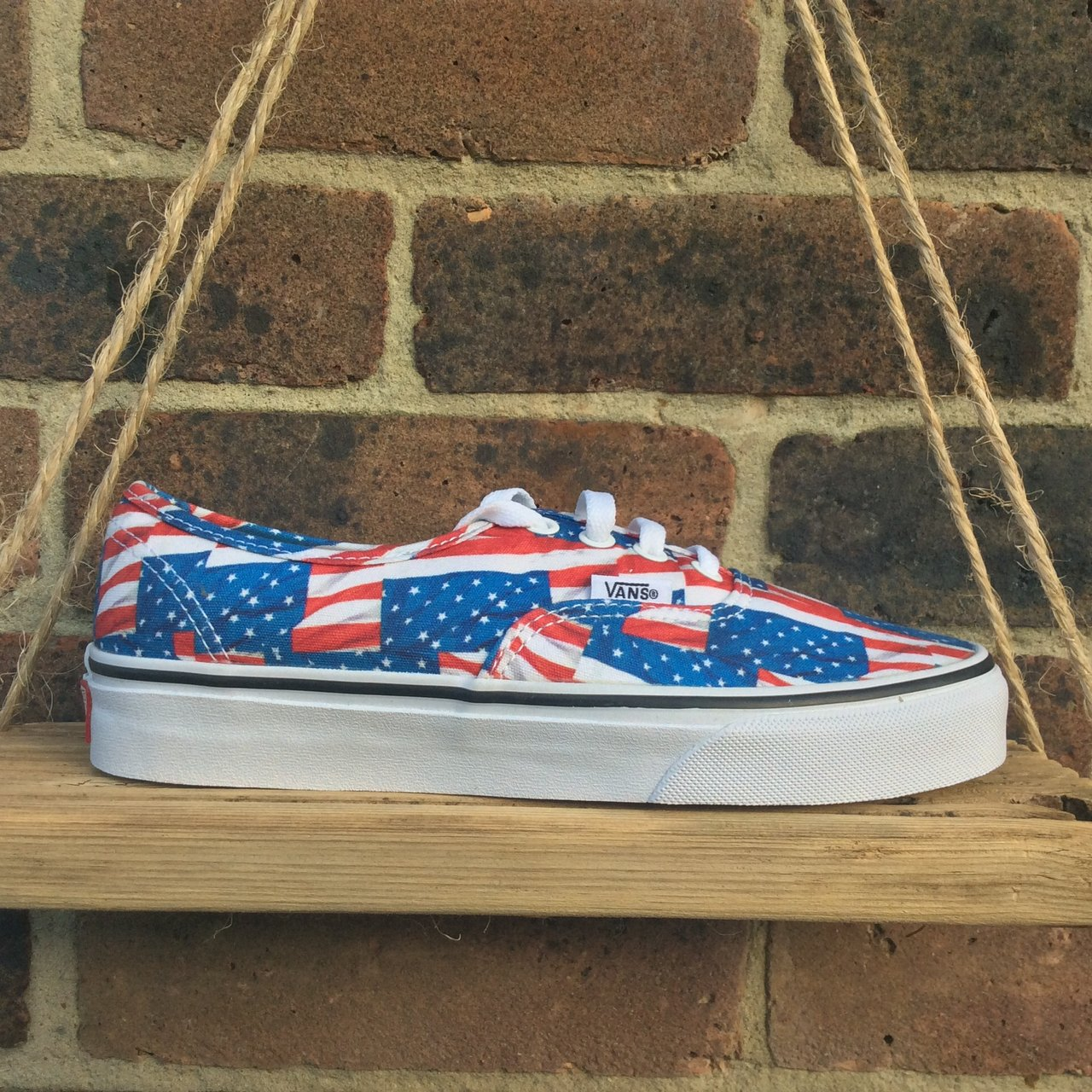 605d7d7f01a Vans USA Flag Superb Limited Edition ( Mid sole can be hand - Depop