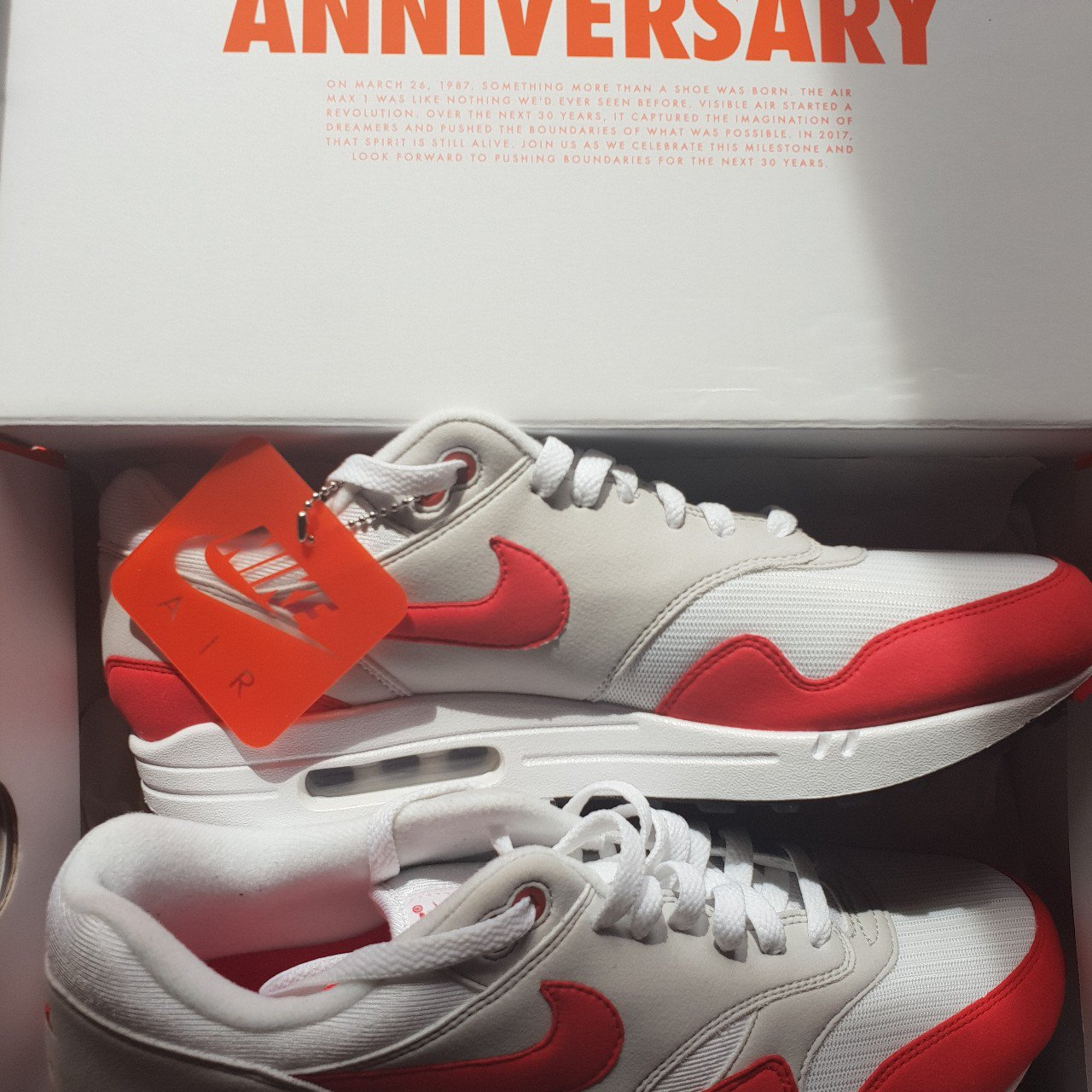 d46d96eb37a Nike Air Max 1 OG 2017 - 30th anniversary red Brand new - Or - Depop