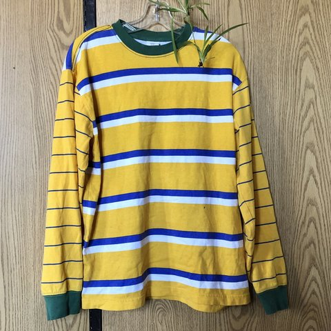 99463388a0 @diablorivers. 6 months ago. Poughkeepsie, United States. really nice retro  style striped long sleeve shirt from urban outfitters! yellow ...