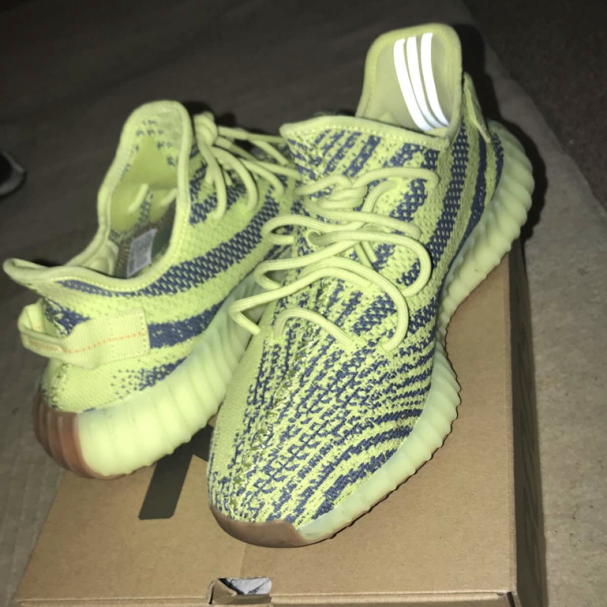 promo code c7df8 b5ceb Yeezy 350 lime green retail 700 in store. So comfy... - Depop