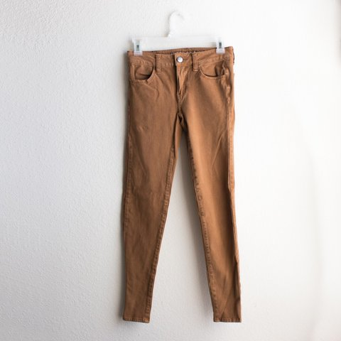 4b9a34304520d American Eagle Sateen 4x Jegging in Caramel SOLD OUT on 0 no - Depop