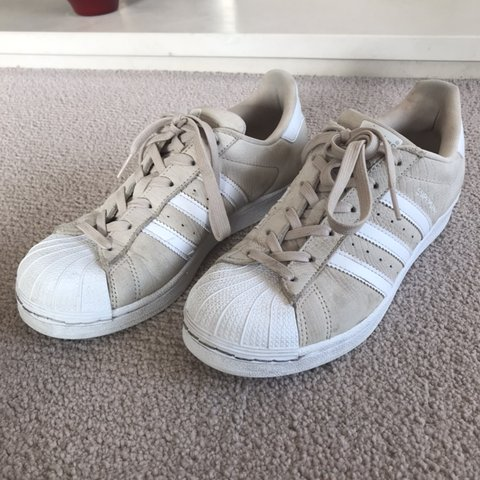 411e81721d46 Adidas superstar nude trainers Nude colours. Size 5 Great - Depop