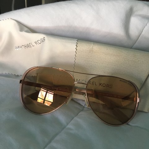 3ea3b3f03 @roxanne954. last year. Winter Springs, United States. Rose gold Chelsea  sunglasses from Michael Kors