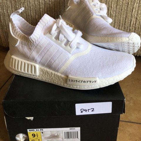 2abad292a Adidas NMD Triple White Japan Size  Men s 9.5 Brand new. - Depop