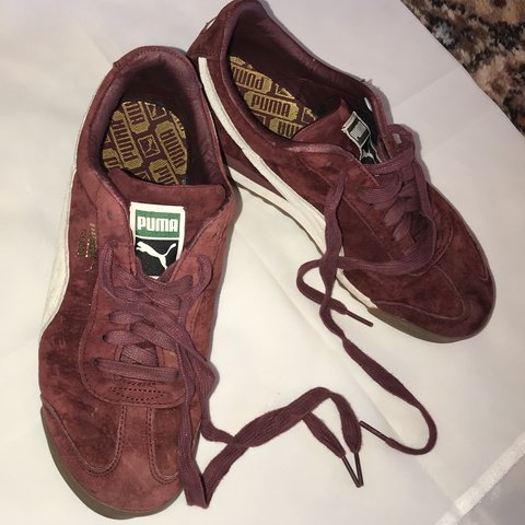 Puma Roma Burgundy  red trainers Size UK 6 Preowned but - Depop d6381e5f7