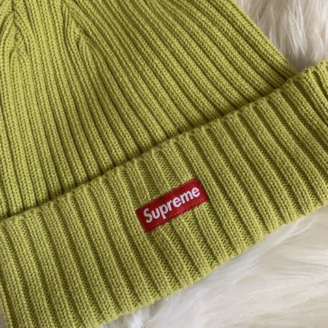 68598c831e7 Neon Lime Green Supreme Beanie — ON HOLD until 5 2 do not - Depop
